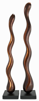 Sinuosity-Line Chocolate Wood Sculpture Set